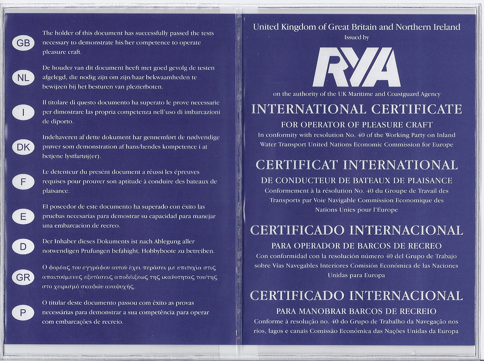 International Certificate Of Competence Icc Low Flite